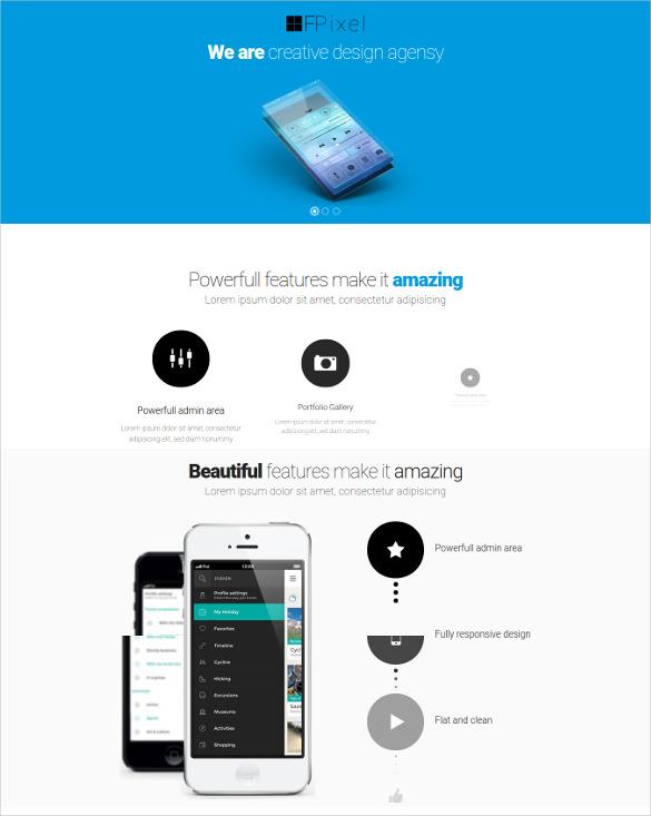 drupal modern flat mobile theme