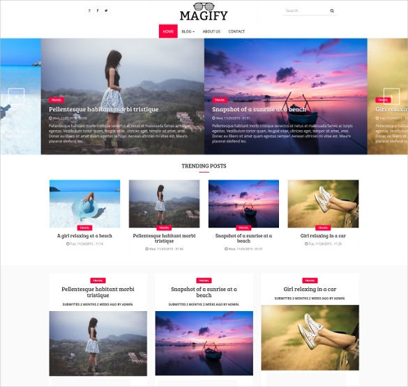 responsive blog magazine moblile theme for drupal