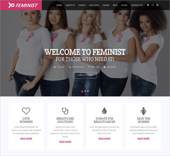 women empowerment charity html5 theme