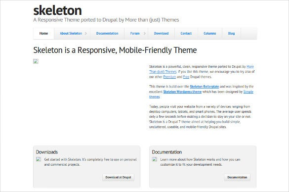 free flexible mobile drupal template