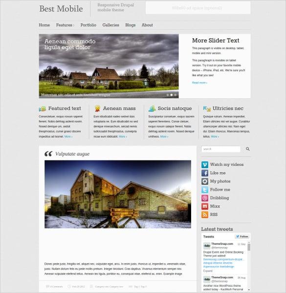 responsive drupal mobile theme