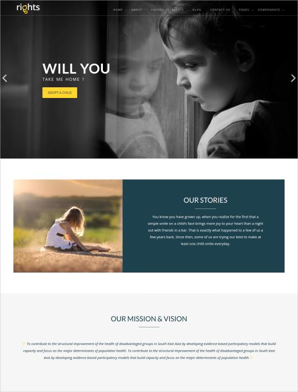 premium charity html5 template