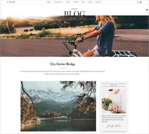 responsive mobile personal blog theme