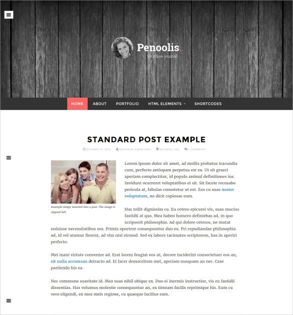 responsive mobile personal blog magazine theme
