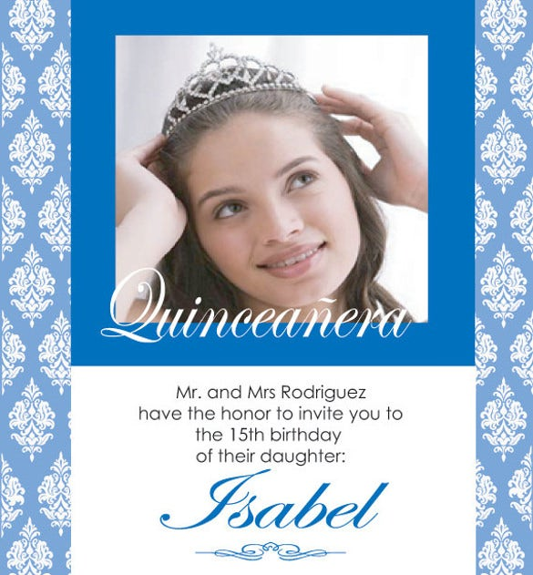 quinceañera personalized invitation sweet 15