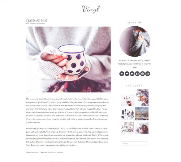minimal white personal mobile blog theme
