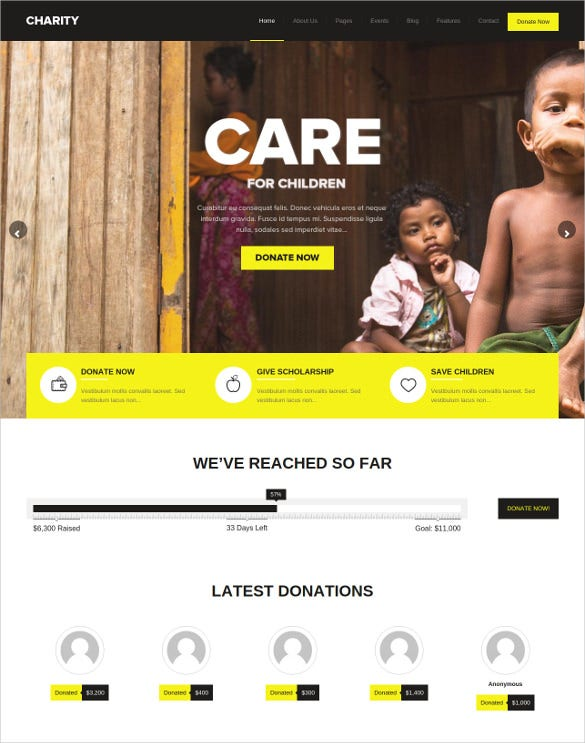 charity foundation wordpress theme