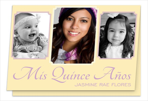 mis quince framed invitation