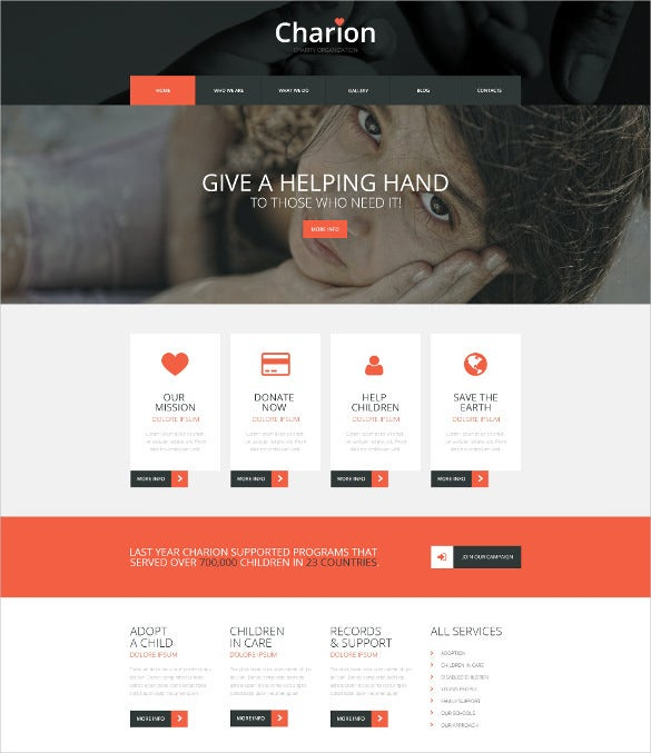 20 charity bootstrap themes templates free premium templates