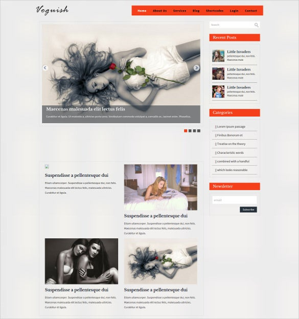 professional blogging mobile website blog template