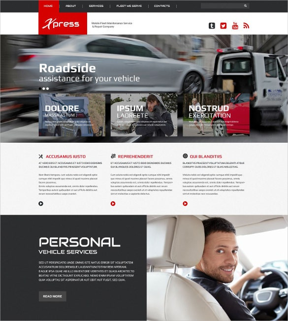mobile repair service responsive website html5 theme