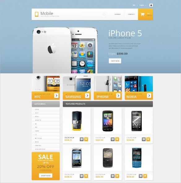 mobile store responsive prestashop html5 theme