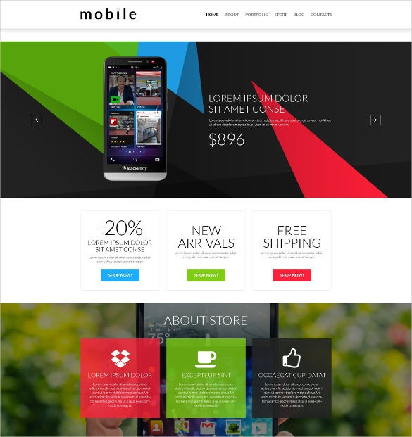 mobile gear store woocommerce html5 theme
