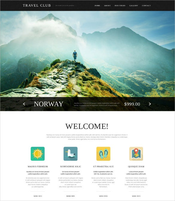 travel agency website html5 template