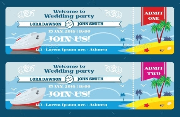 21 Ticket Invitation Templates Free Sample Example Format – Ticket Invitation Template Free