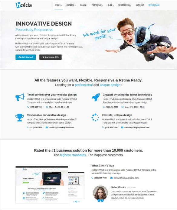 corporate business mobile html5 template
