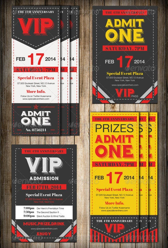 21+ Ticket Invitation Templates – Free Sample, Example, Format ...