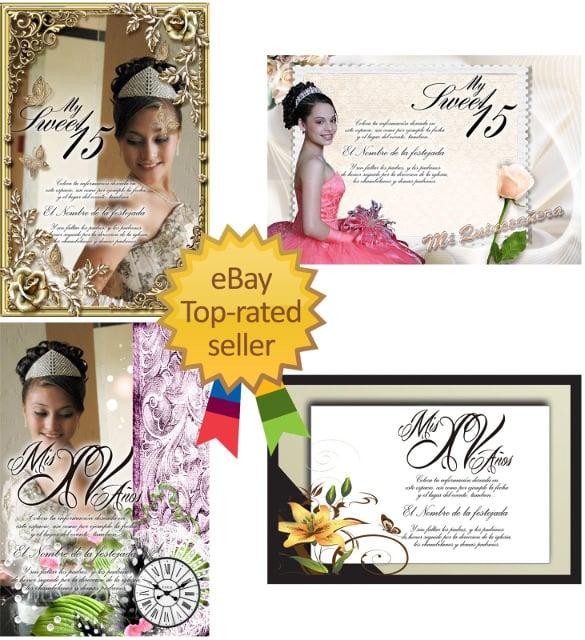 templates for quinceaneras invitations