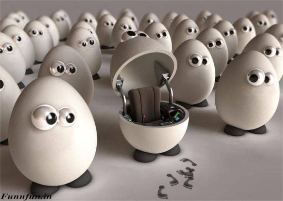 egg with chair funny hd wallpaper background free