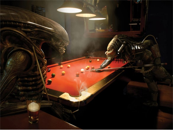 pool game alien predator billiard funny background