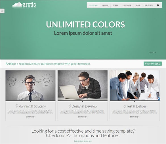 clean responsive corporate business html5 template