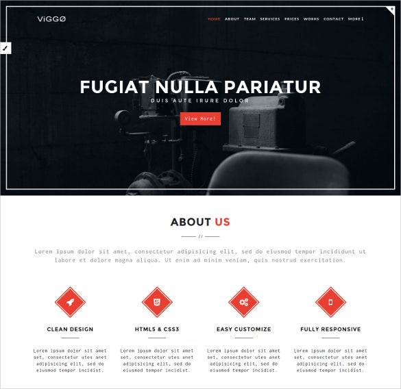 one page html5 mobile template