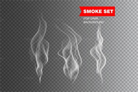 isolated realistic cigarette smoke eps format download