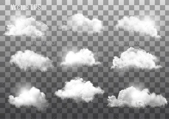 clouds on transparent background eps format