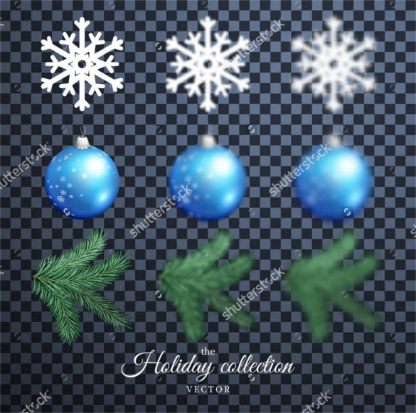 snowflakes christmas balls transparent backgrounds
