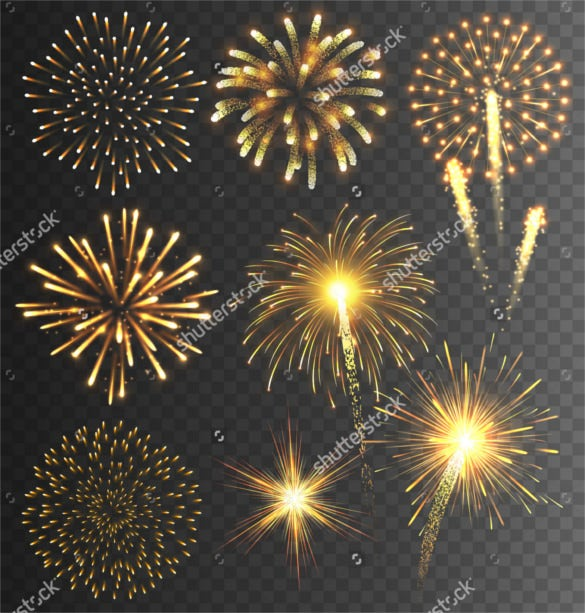firework salute burst on transparent background download