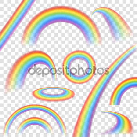 rainbows transparent set background download