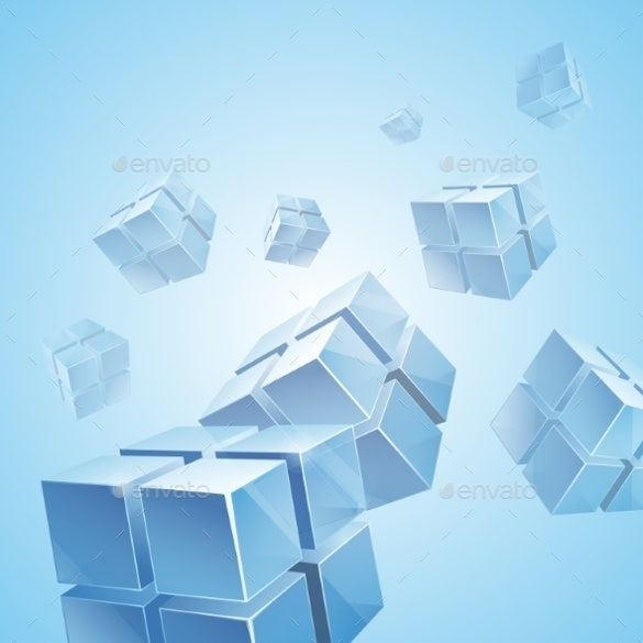 flying blue transparent cubes background eps download