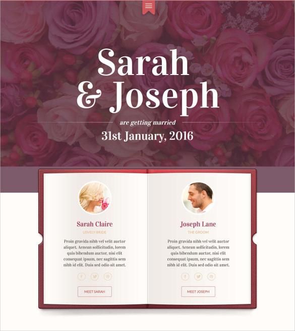 unique wedding swish html mobile template