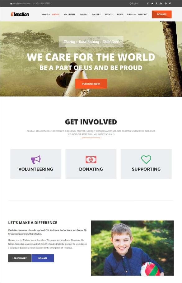 non profit charity bootstrap theme