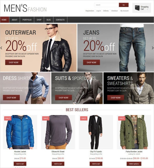 fashion jigoshop mobile theme
