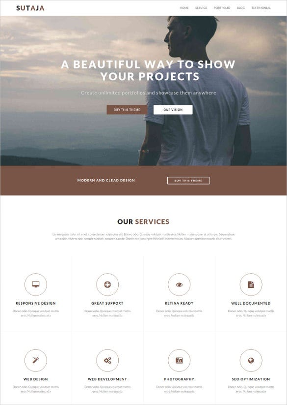feature charity bootstrap template