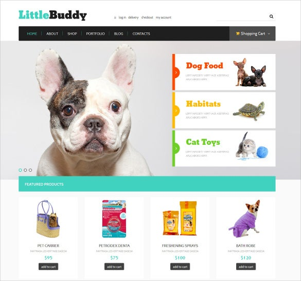 pet shop responsive jigoshop mobile theme