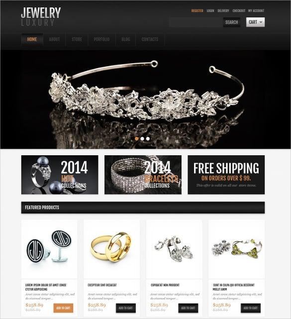 jewelry responsive jigoshop mombile theme