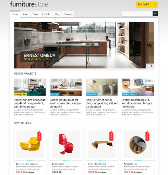 furniture responsive jigoshop mobile template
