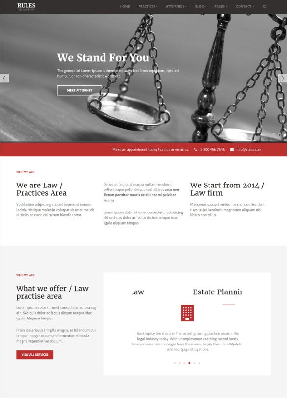 red charity bootstrap website template