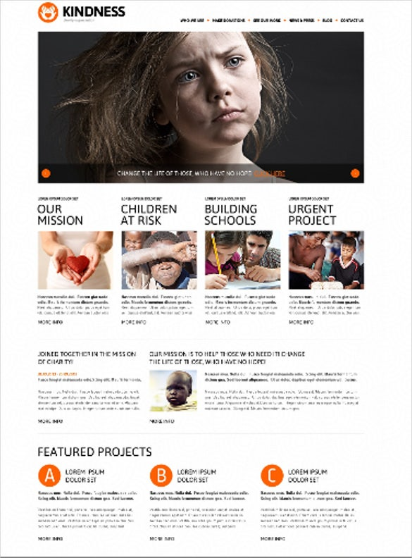 charity foundation bootstrap theme