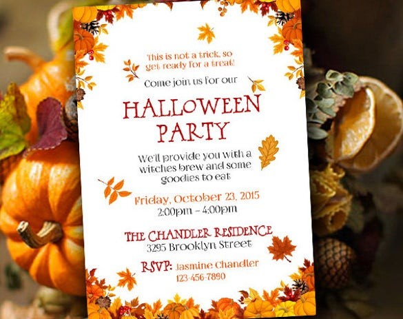 21  halloween invitation templates