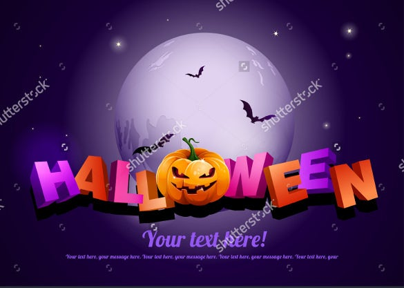 happy halloween poster template