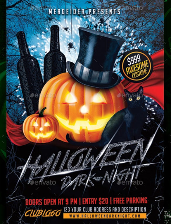 halloween dark night flyer