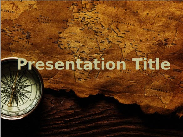 old map ppt template