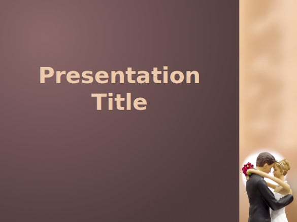 free marriage ppt template