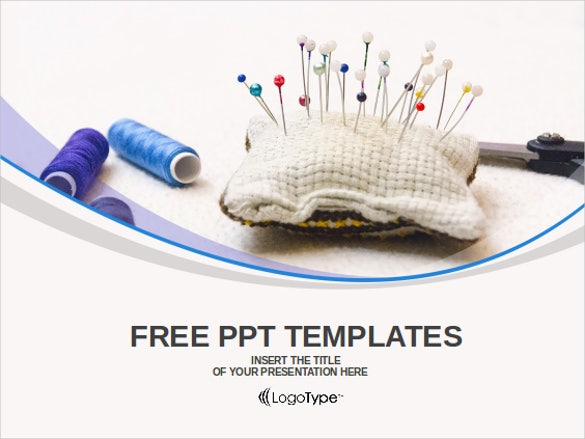 accessories for needlework powerpoint templates