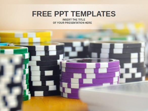 casino tokens powerpoint templates