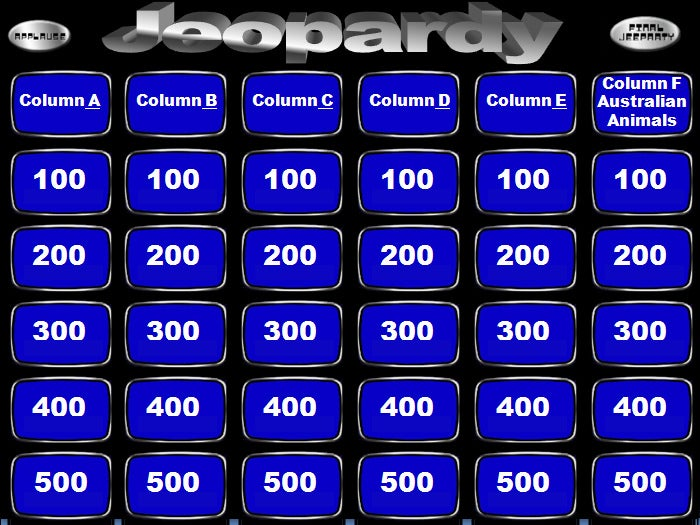 sample smartboard jeopardy powerpoint presentation template
