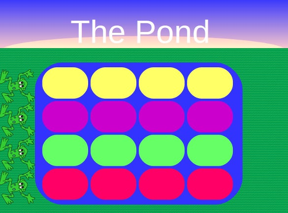 the pond jeopardy powerpoint template with sound sample
